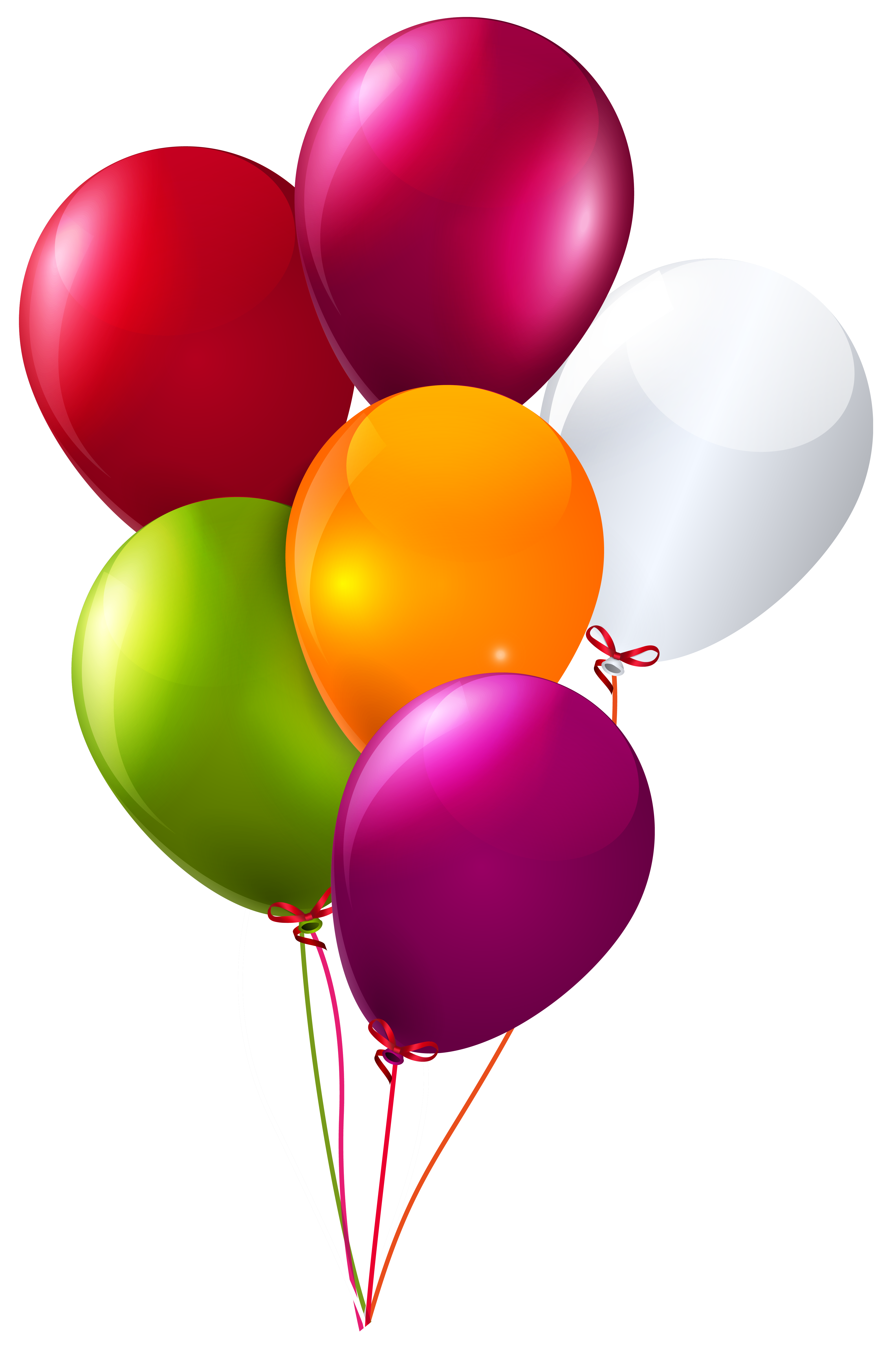 Colorful Bunch of Balloons Clipart PNG Image.