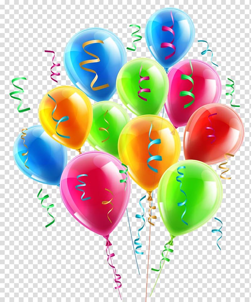 Balloons and confetti sticker, Balloon Ribbon , Balloons.