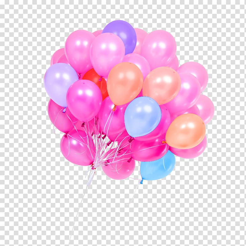 Balloon , Color candy color balloon decoration pattern transparent.