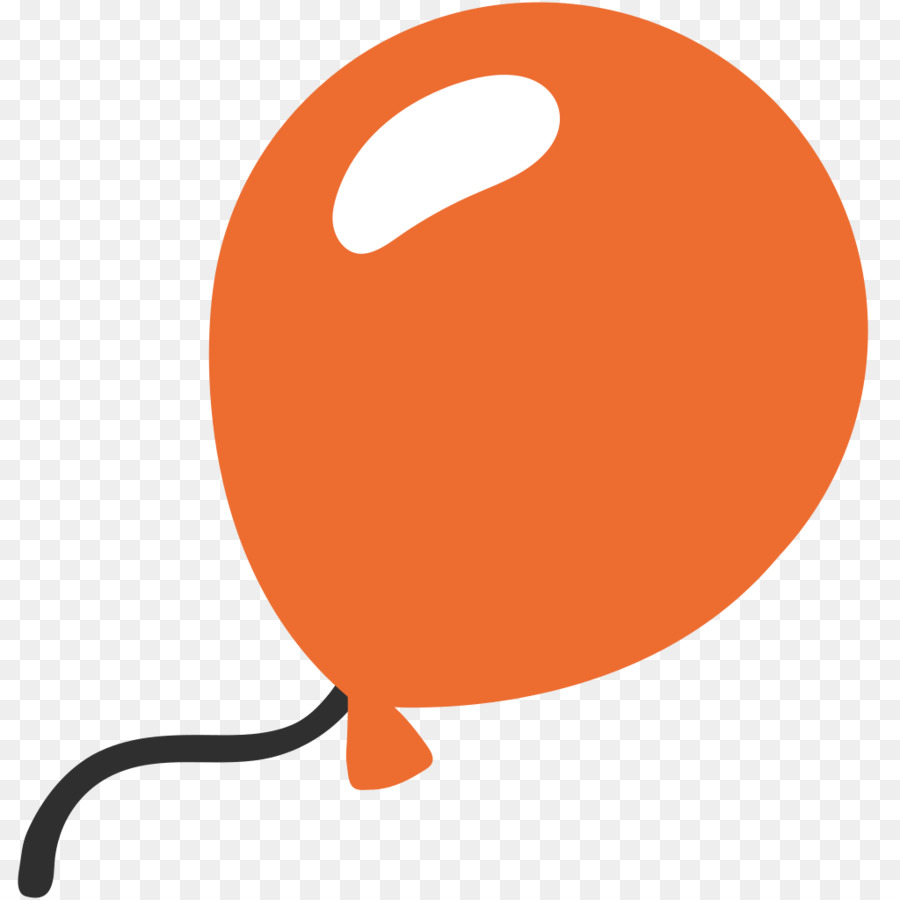 Orange Balloon clipart.