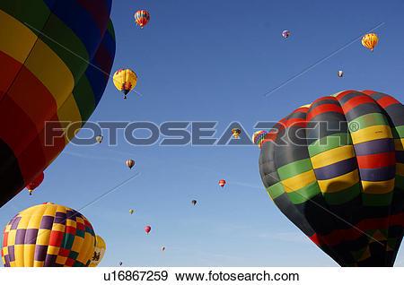 Stock Photograph of albq balloon fiesta ascension hot.