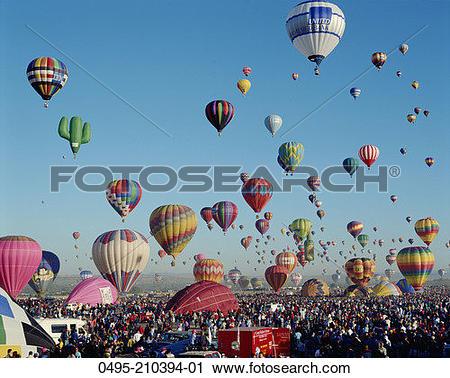 Stock Photography of New Mexico, Albuquerque, Albuquerque Balloon.