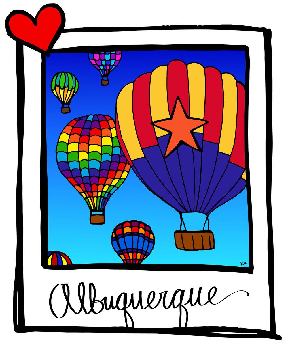 Albuquerque International Balloon Fiesta — suitcase heart.