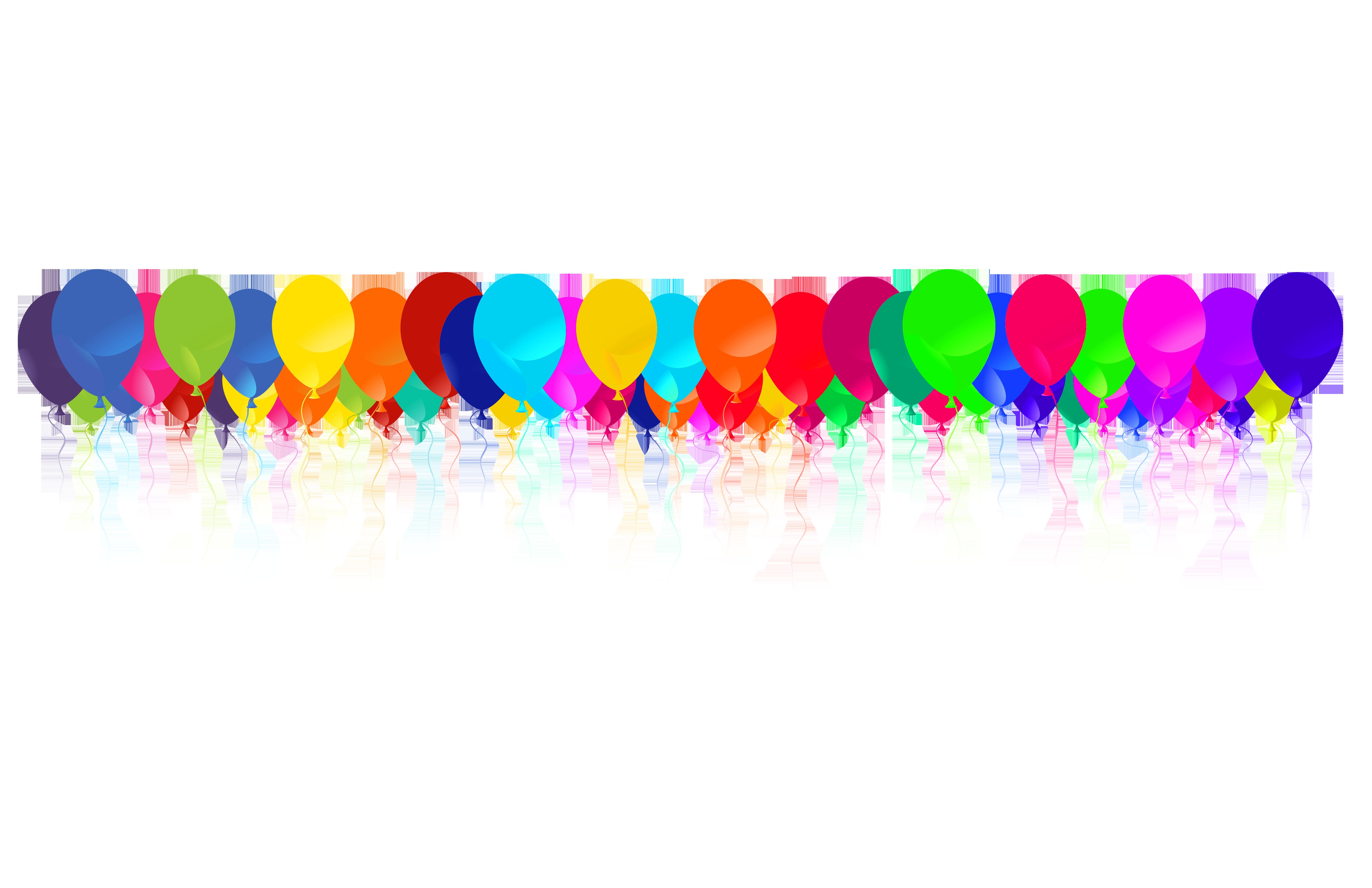 Free Balloons Border, Download Free Clip Art, Free Clip Art.