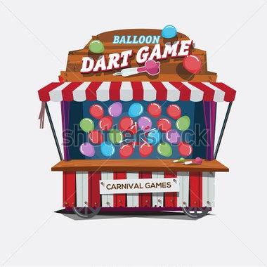 Balloon dart game clipart.