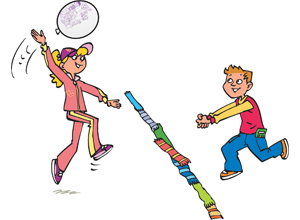Balloon games.