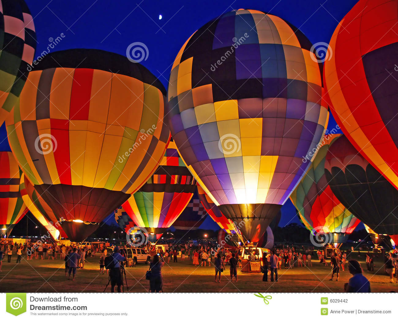 Hot Air Balloon Glow Stock Photography.