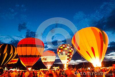 Balloon Glow Editorial Image.