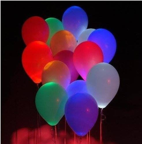Glow in the dark balloons.