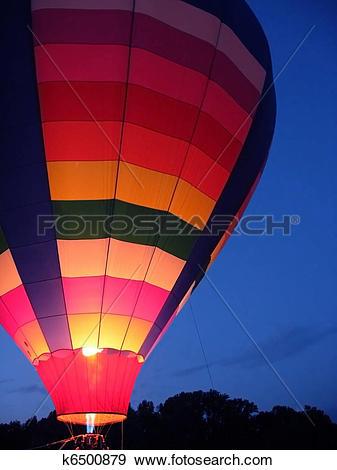 Stock Photograph of Hot Air Balloon Glow k6500879.