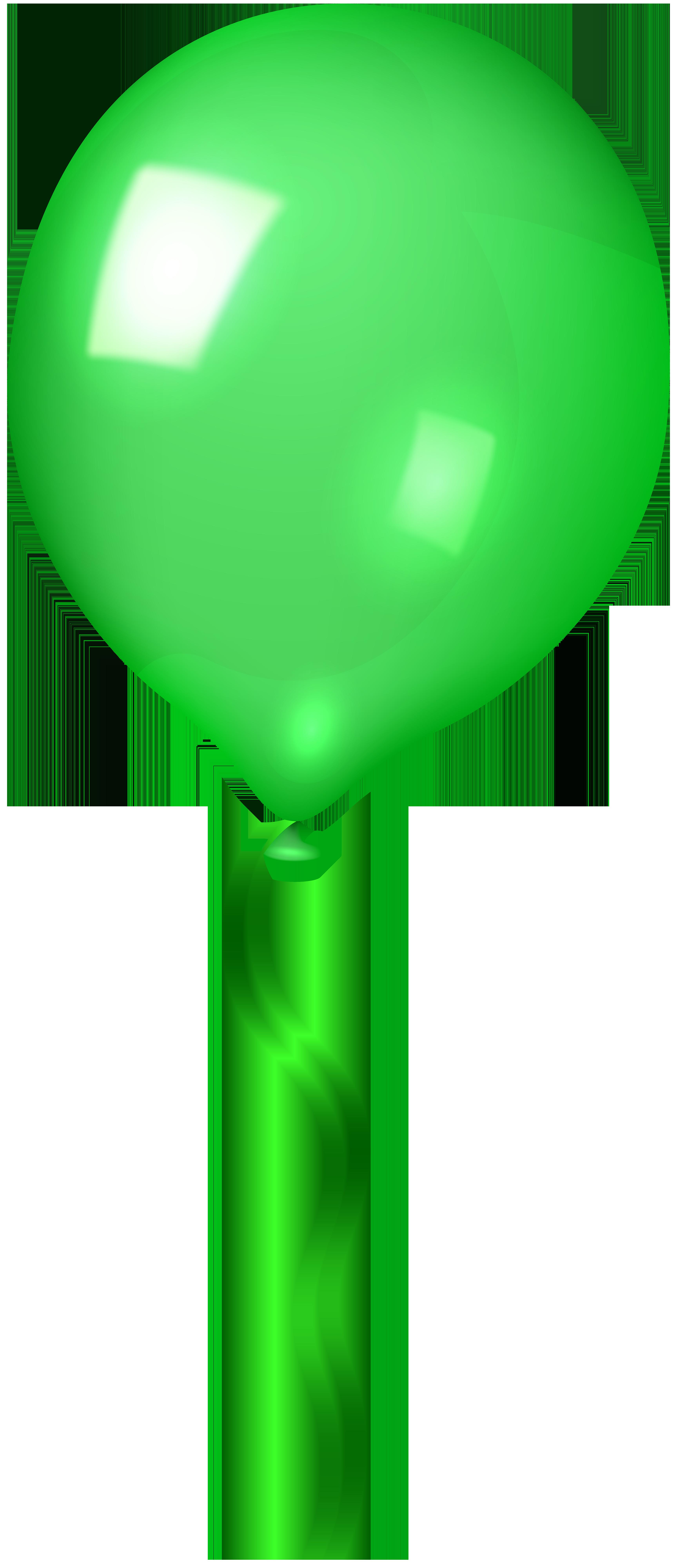 Green Balloon Clip Art Image.