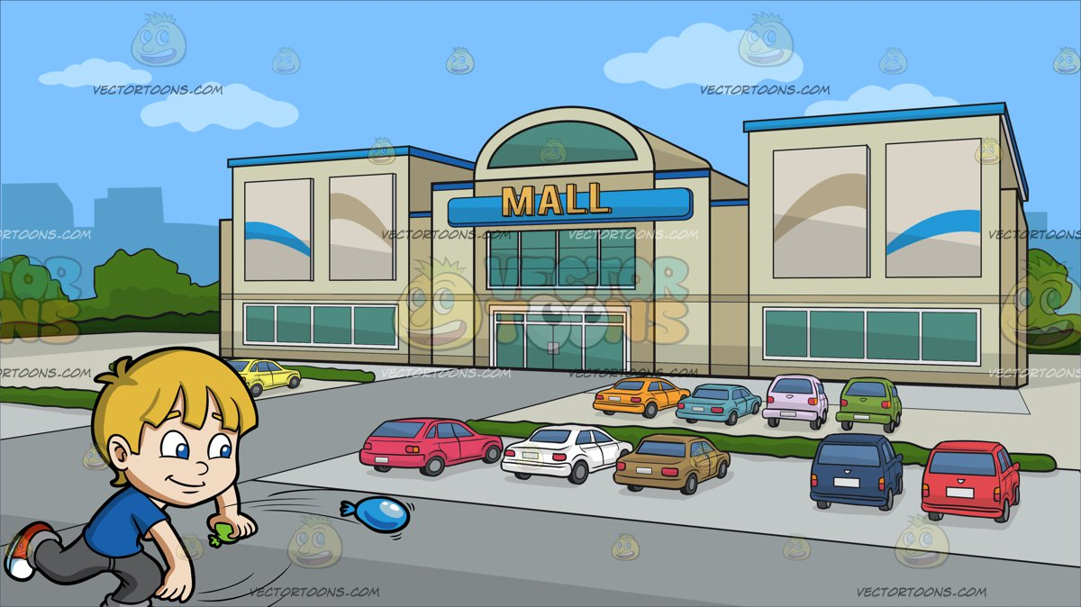At The Mall Clipart.