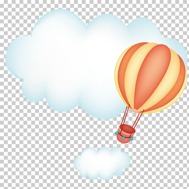 Cloud Sky Hot air balloon, Clouds and hot air balloon PNG.