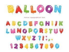 Balloon Letters Free Vector Art.