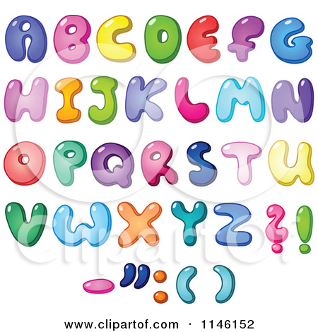 Balloon Letters Clipart.