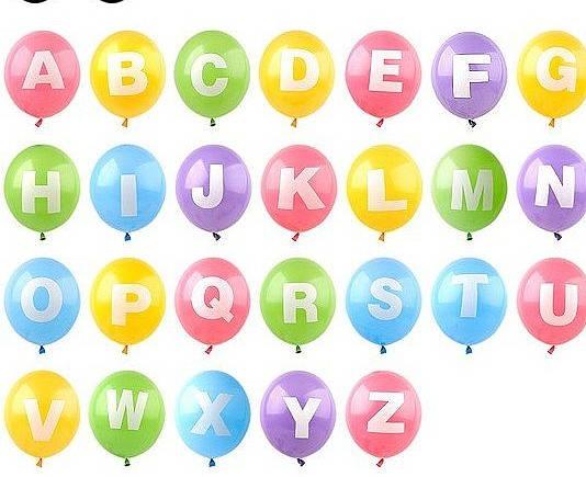 Alphabet clipart balloon, Alphabet balloon Transparent FREE.