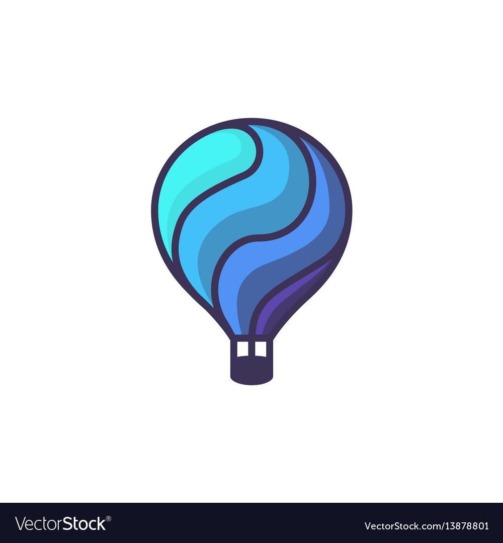 Hot air baloon logo cartoon of hot.