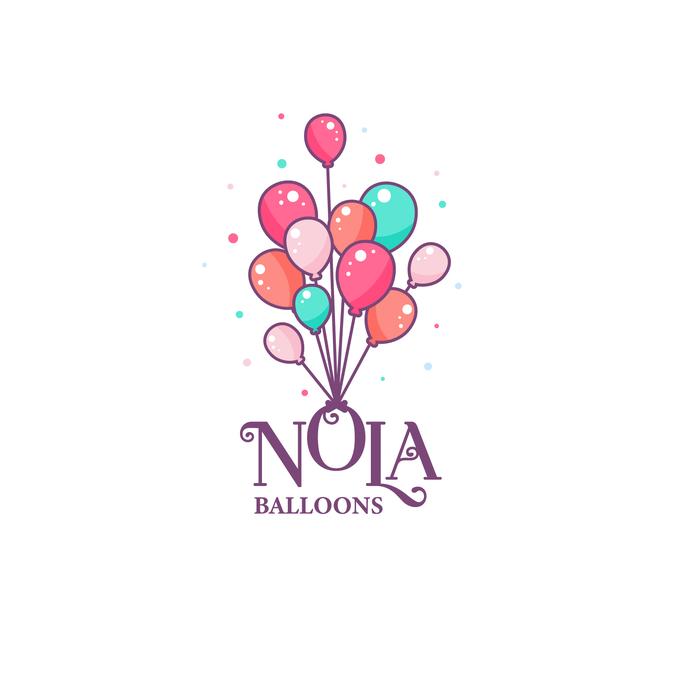 New Orleans Balloon Business Logo.
