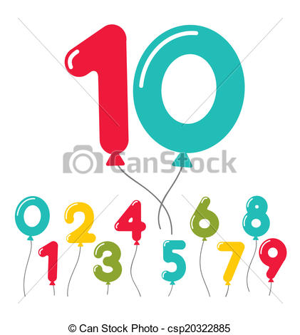 Balloon Number Clipart.