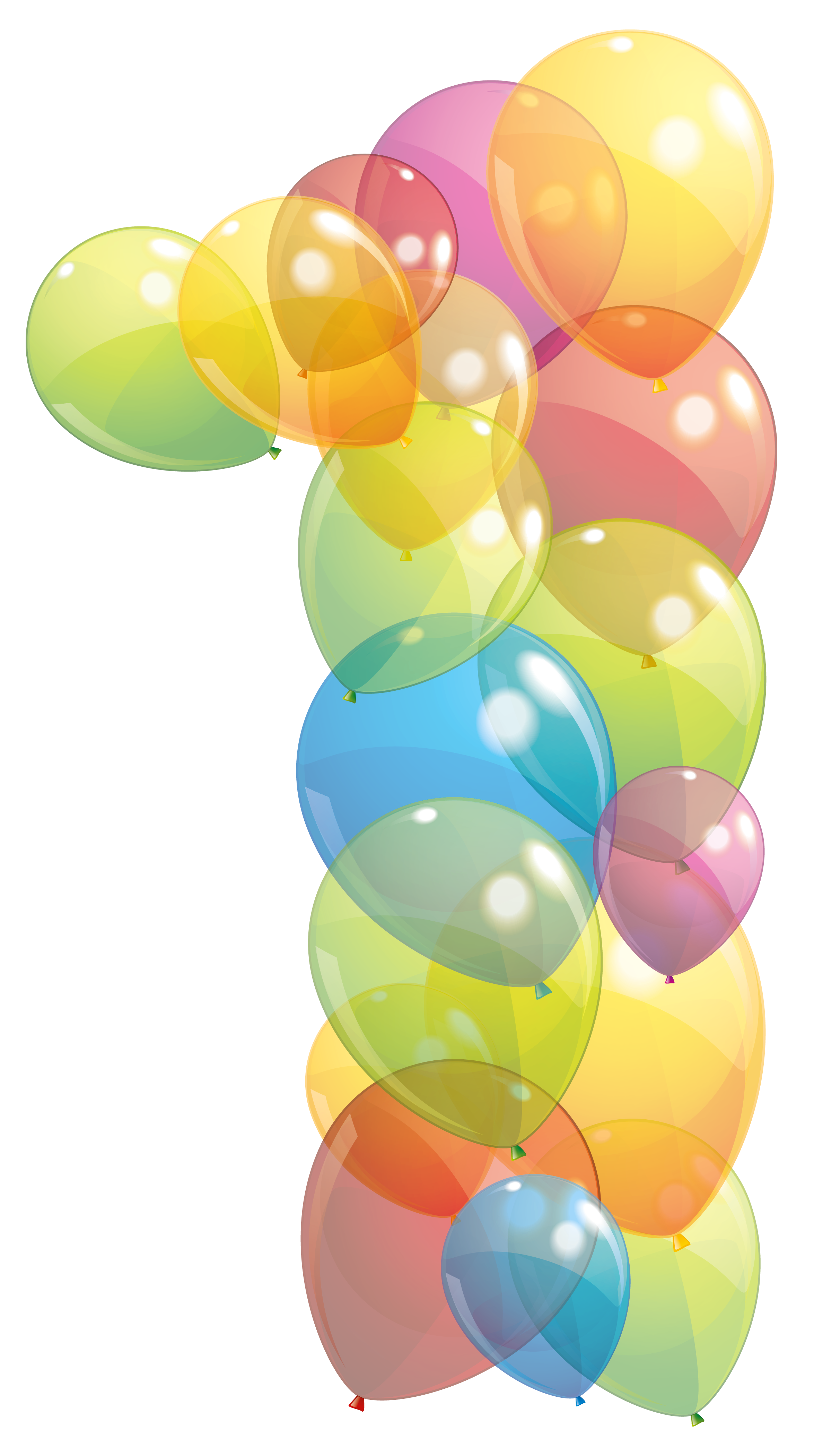Transparent One Number of Balloons PNG Clipart Image.