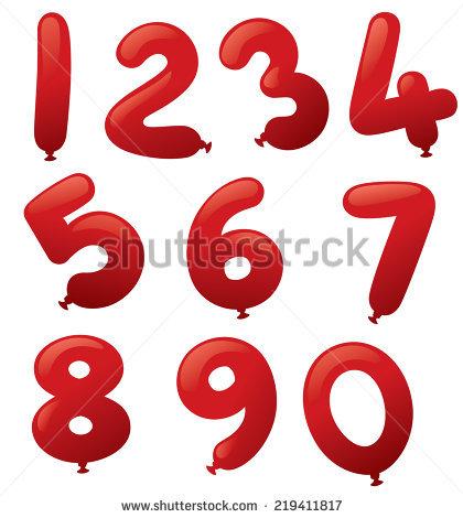 Balloon Numbers Banque d'Image Libre de Droit, Photos, Vecteurs et.