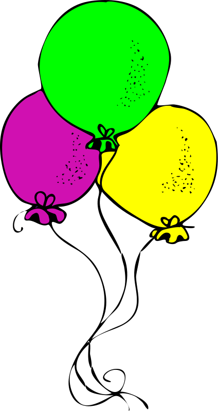 Balloon Birthday Clipart Pictures Royalty Free.