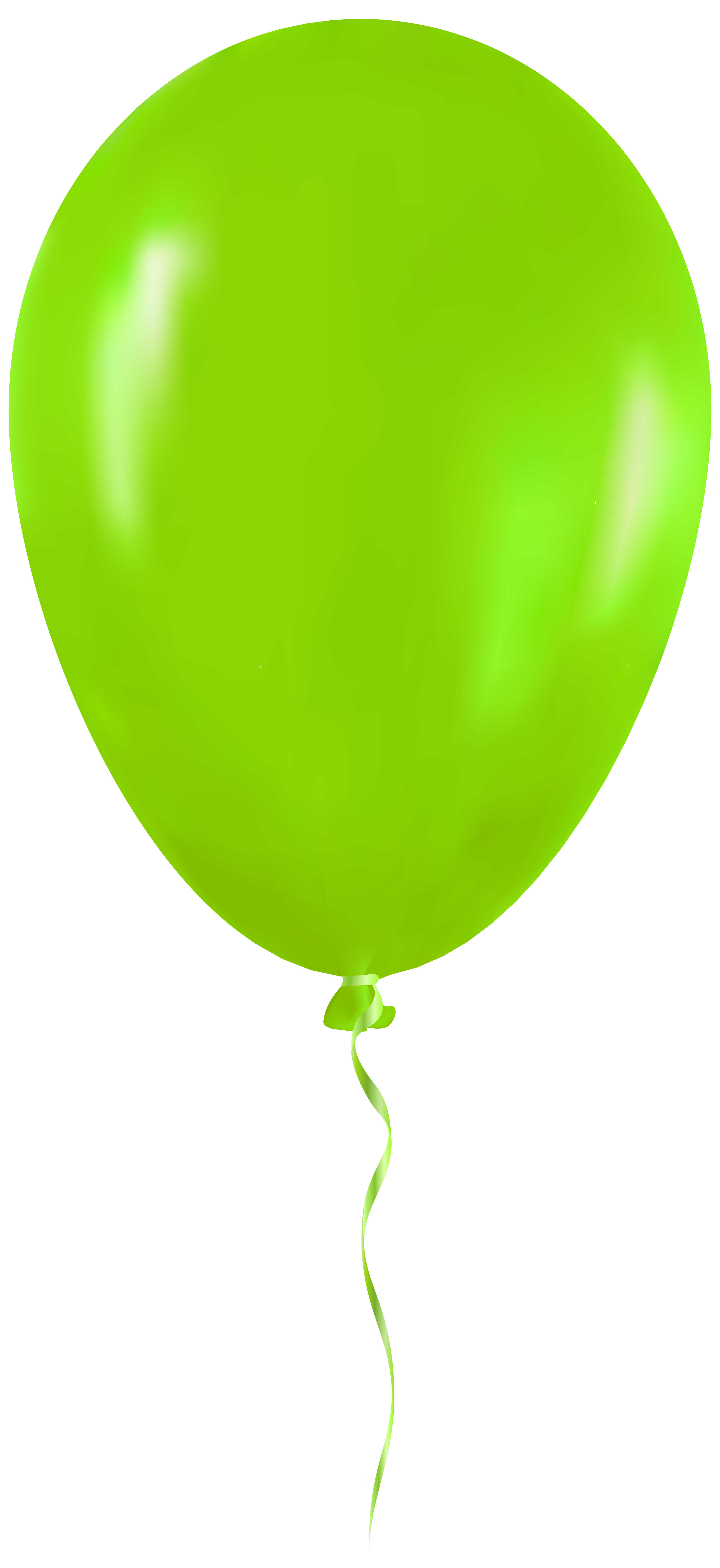 Green Balloon PNG Clip Art.