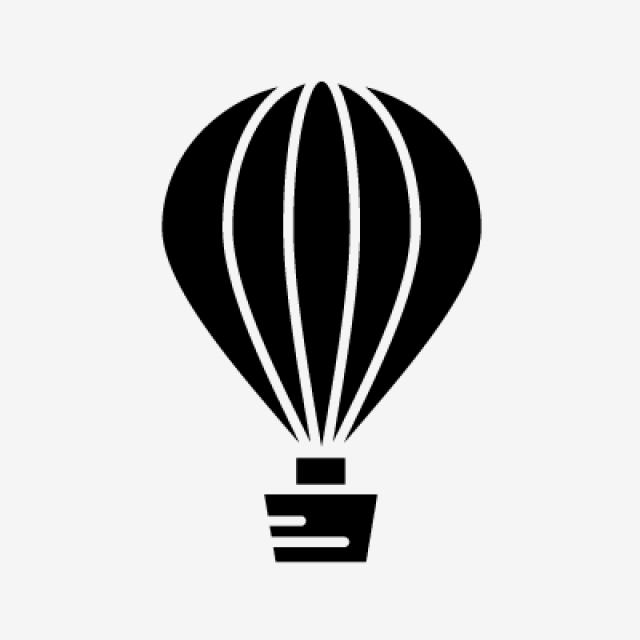 Air Balloon Glyph Black Icon, Air, Air Balloon, Balloon PNG and.
