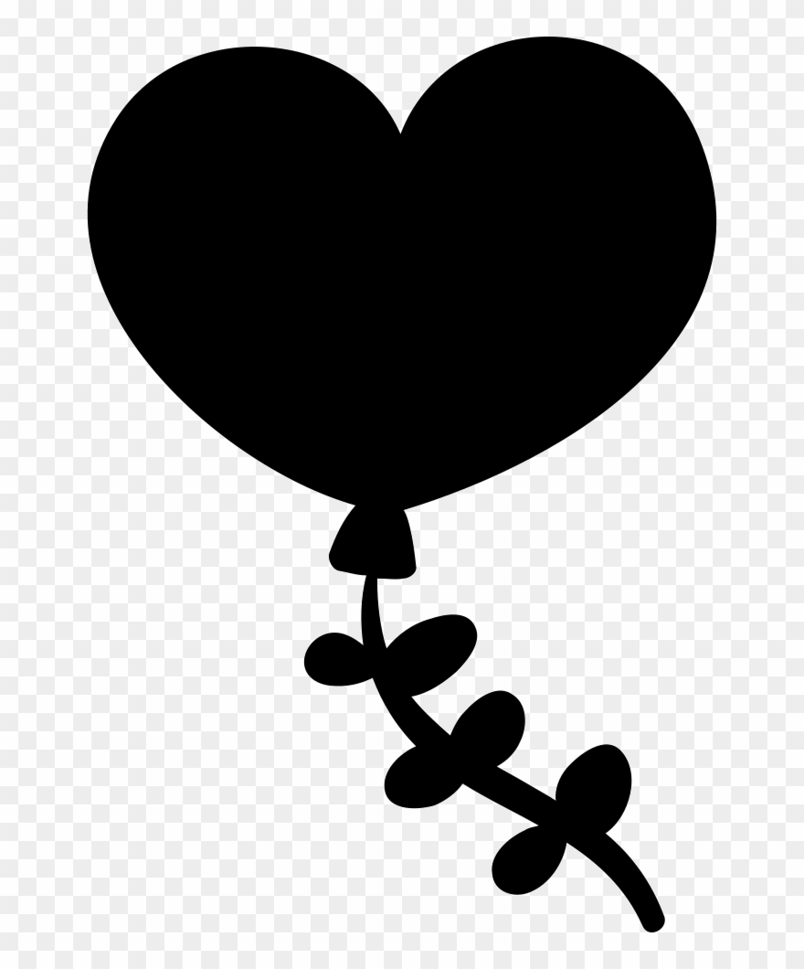 Clipart Royalty Free Download Heart Balloon Png Icon.