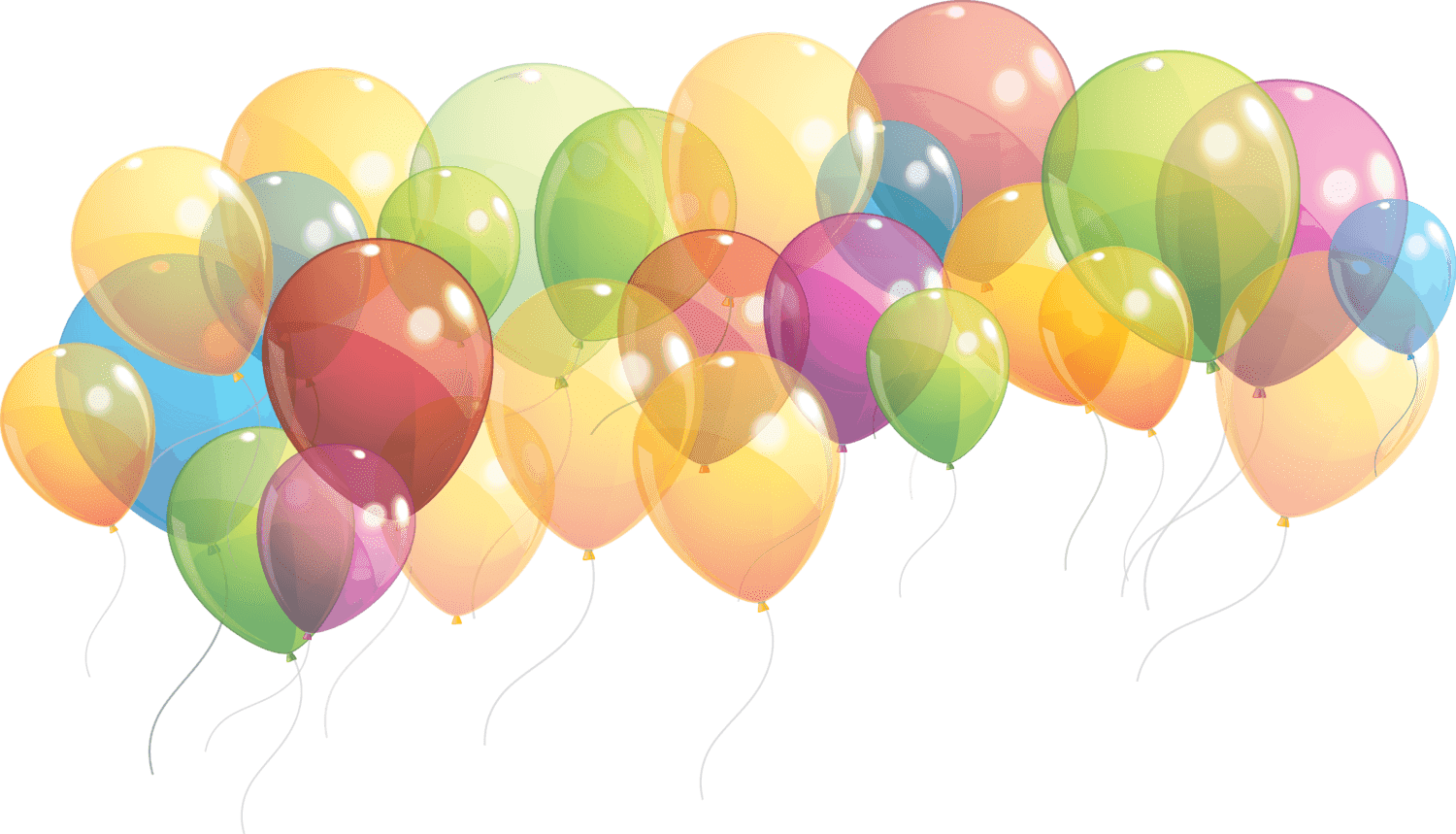 Group Of Balloons Taking Of transparent PNG.