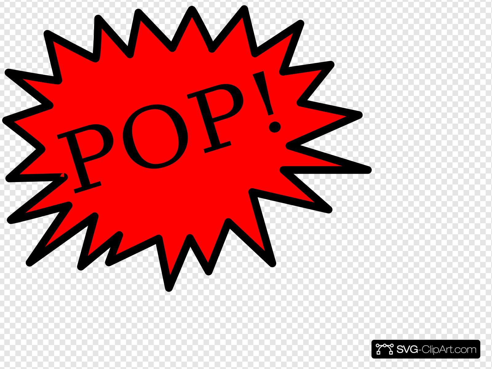 Balloon Pop Clip art, Icon and SVG.