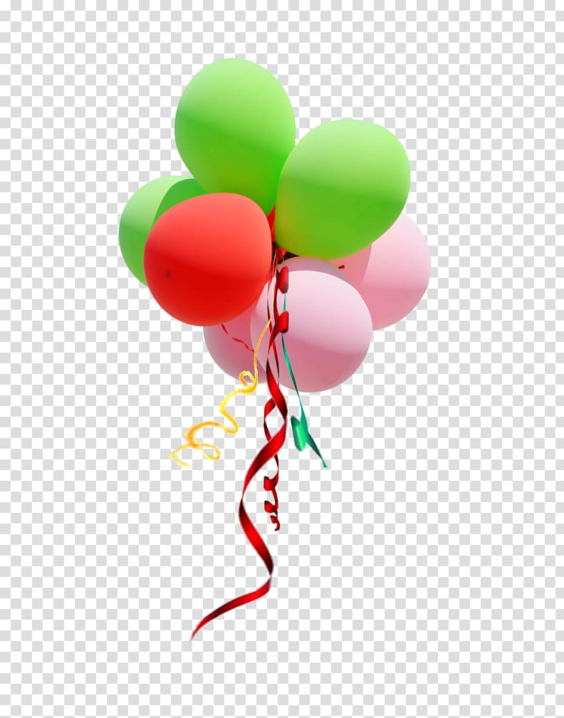 Toy balloon Ribbon , balloon transparent background PNG.