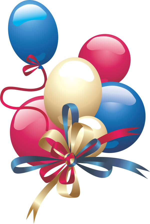 Balloons png with Ribbon Knotted.