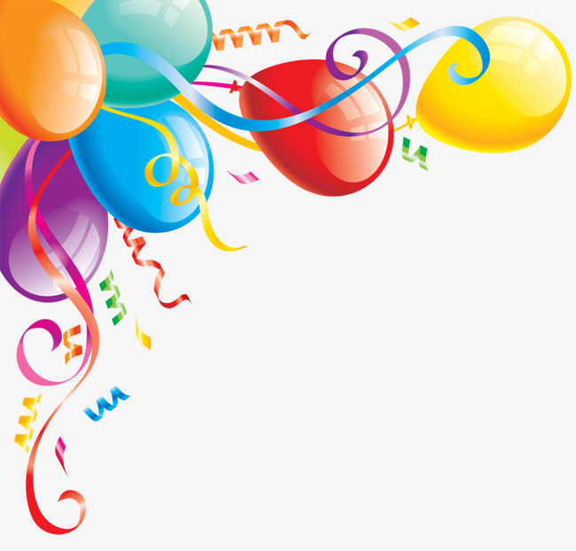 Colored Balloons Elements, Color, Ribbon, Balloon PNG Transparent.