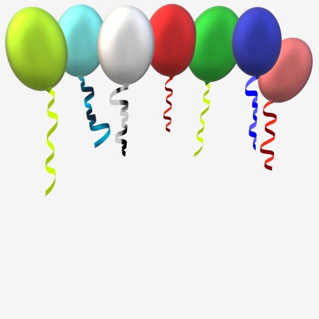 Balloon With Ribbon, Balloon, Balloons, Ribbon PNG and Vector with.