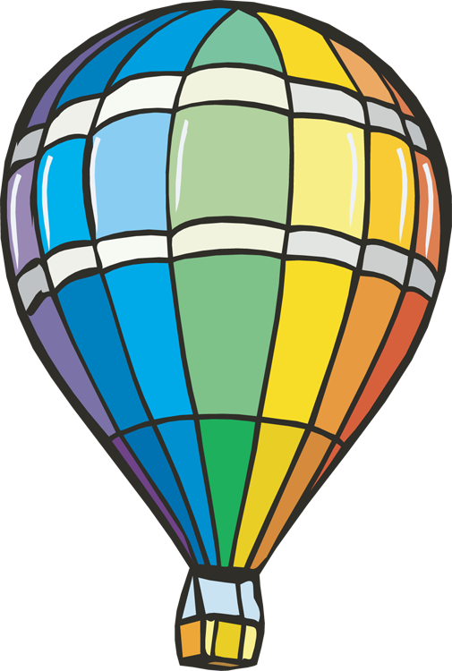 Balloon ride clipart.