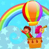 Balloon ride clipart #15