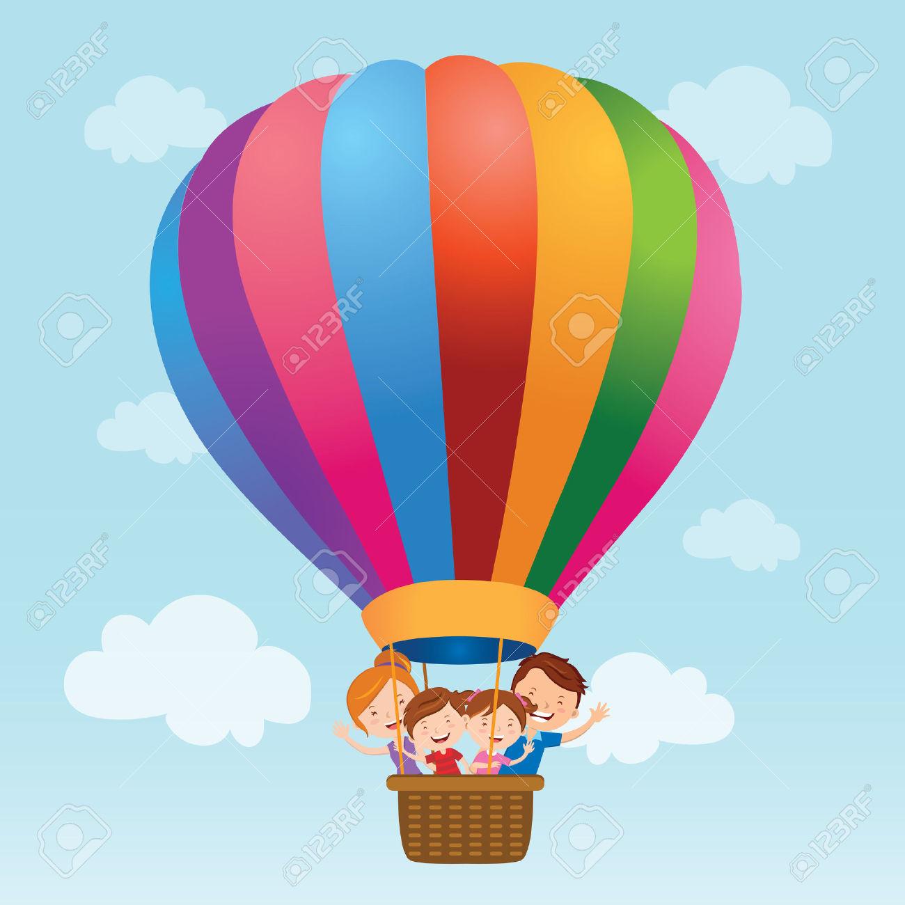 Balloon ride clipart #4