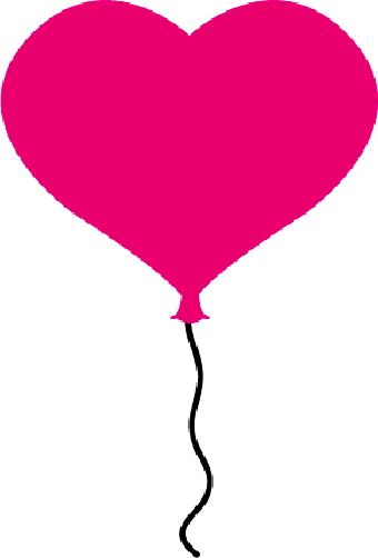 Heart Balloon Outline Clipart.