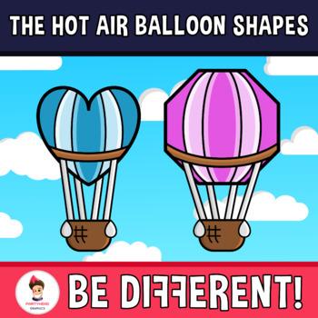 Hot Air Balloon Shapes Clipart.