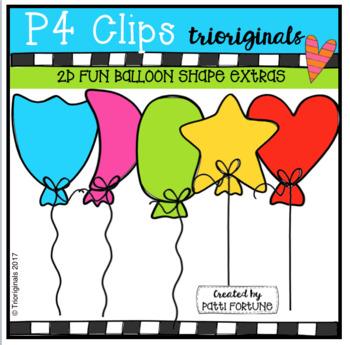 FREE 2D FUN Balloon Shape EXTRAS (P4 Clips Trioriginals Clip Art).