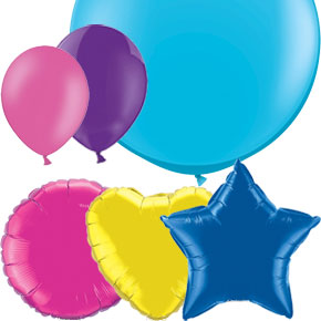 Balloons by Colour, Shape, Size, Occasion and Material.