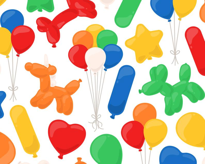Rainbow Balloon Clipart, Balloon Animal Clip Art, Birthday Clipart, Party  Clip Art, Celebration Clipart, Commercial Use.