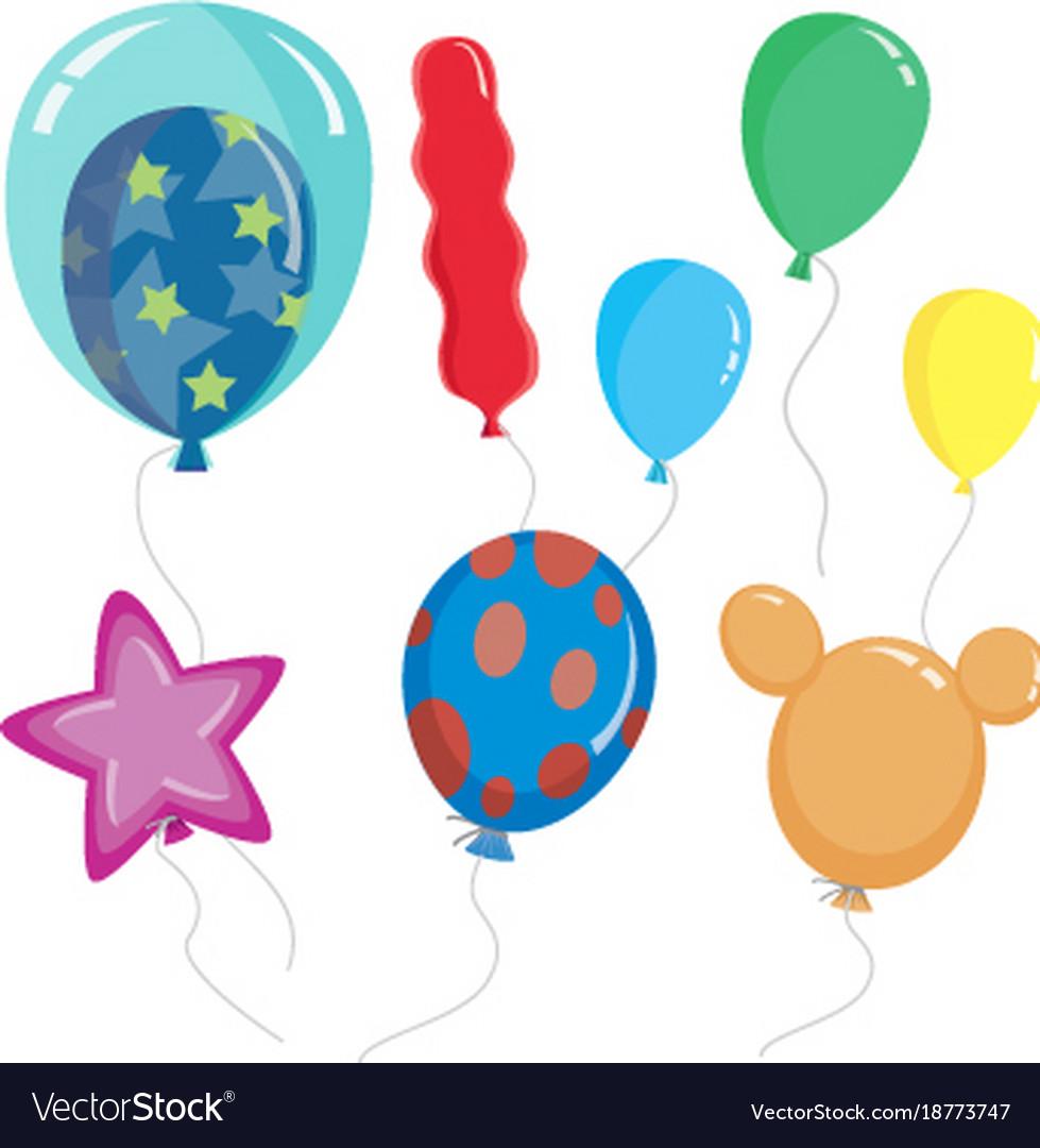 Cute cartoon balloon shapes color.
