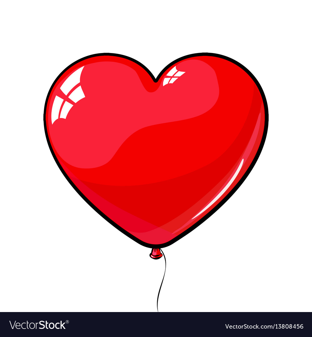 Red heart shaped balloon love march 8.