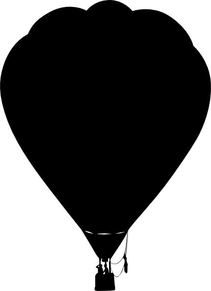 Clue Hot Air Balloon Outline Silhouette clip art Free vector.