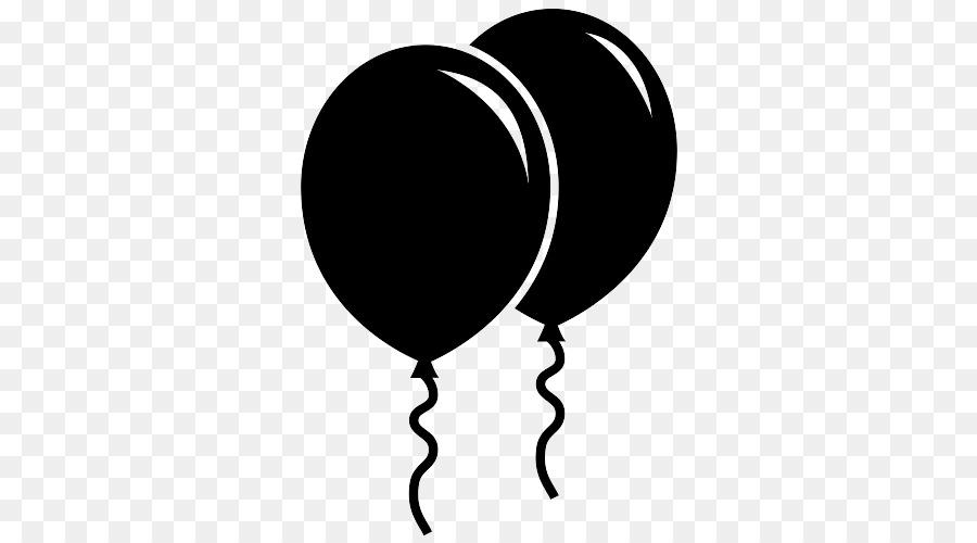Balloon Black And White.