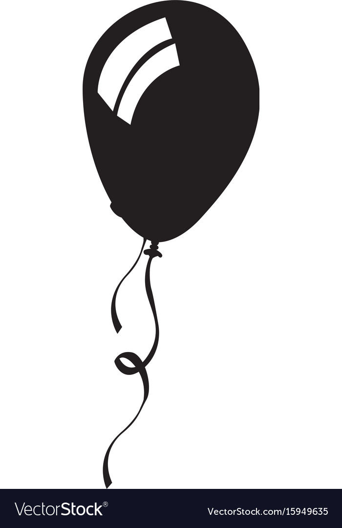 Isolated balloon silhouette.