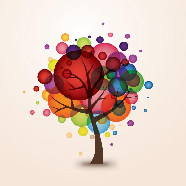 Free Balloon Tree Clipart.