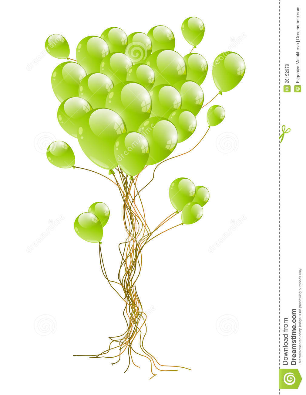 Balloon Tree Royalty Free Stock Images.
